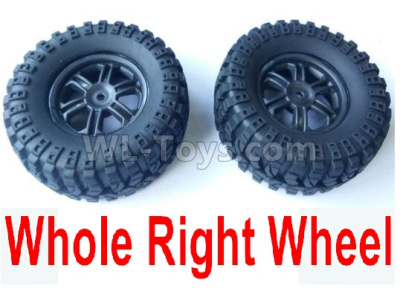 Wltoys 124012 RC Car Parts-Right Wheel Assembly Parts(2 Set)-Whole Right Wheel,include the Tire lether,Wheel Hub,sponge124011.0975,1/12 Wltoys 124012 Parts