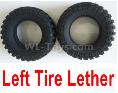 Wltoys 124012 RC Car Parts-Left Tire Lether Parts(2pcs)-Not include the Wheel Hub-124011.0968,1/12 Wltoys 124012 Parts