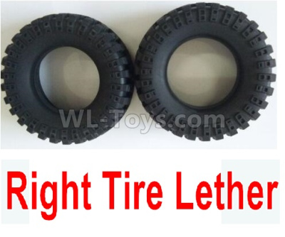 Wltoys 124012 RC Car Parts-Right Tire Lether Parts(2pcs)-Not include the Wheel Hub-124011.0969,1/12 Wltoys 124012 Parts