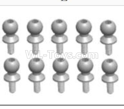 Wltoys 124012 RC Car Parts-Ball head B(M4.9X13)-8PCS-L303-42,1/12 Wltoys 124012 Parts