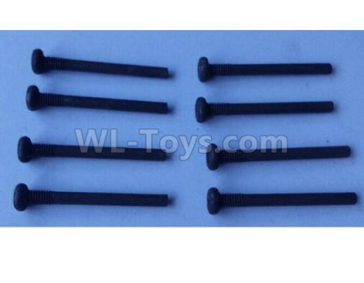 Wltoys 124012 RC Car Parts-Cross round head step machine screw Parts(8pcs) -3x28PM,D5.5 upper half tooth,Thread length 5-124011.0986,1/12 Wltoys 124012 Parts