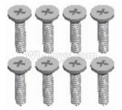 Wltoys 124012 RC Car Parts-Cross countersunk head tapping screw Parts(8pcs)-ST2x8KB-D3.5-124011.1230,1/12 Wltoys 124012 Parts