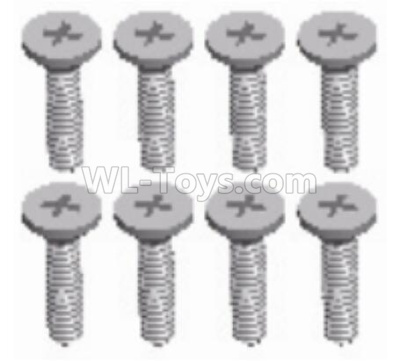 Wltoys 124012 RC Car Parts-Cross countersunk head screw Parts(8pcs) -3x8KB-D5.5-124011.1231,1/12 Wltoys 124012 Parts