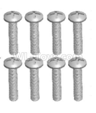 Wltoys 124012 RC Car Parts-Cross recessed pan head screws Parts(8PCS)-M2.5X12 PM-12428.0103,1/12 Wltoys 124012 Parts