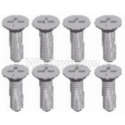 Wltoys 124012 RC Car Parts-Cross recessed Flat head screws Parts(8PCS)-M2.5X8 KM-12428.0114,1/12 Wltoys 124012 Parts
