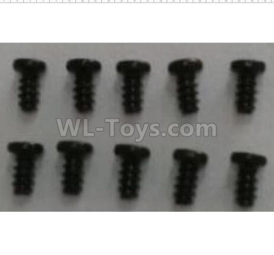 Wltoys 124012 RC Car Parts-Round head self-tapping screws (10pcs)-2.6x6-A949-38,1/12 Wltoys 124012 Parts