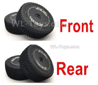 Wltoys 124016 Wheel Tires unit Parts. 2 set Front Wheel + 2 Set Rear Wheel.
