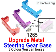 Wltoys 124017 Upgrade Metal Servo Steering Gear Base Fixed Parts. 124017.1265. 3 Colors you can choose.
