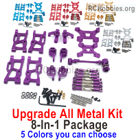 Wltoys 124017 Upgrade Metal kit cash set1 Parts. All 8-In-1 Package. 5 Colors you can choose.