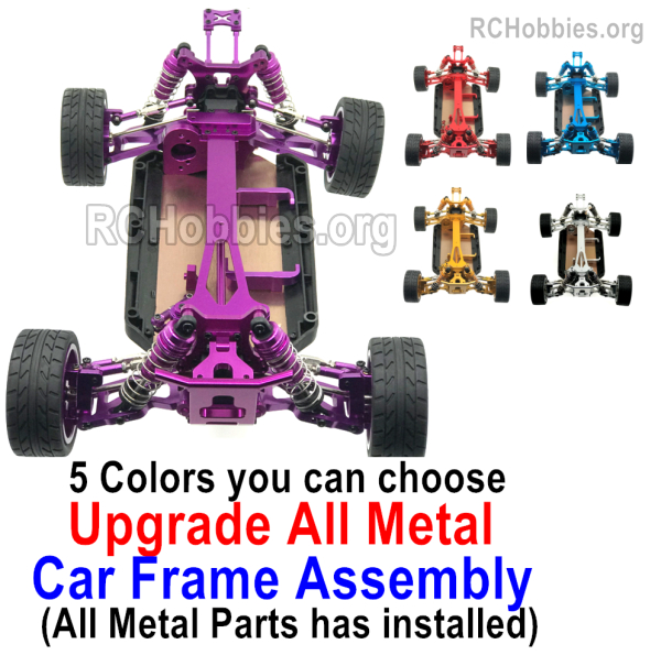 Wltoys 124017 Upgrade All Metal Car Frame Assembly. All Metal parts has  installed. 5 Colors you can choose.