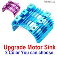 Wltoys 124016 Upgrade Parts Motor Heat Sink. Two colors you can choose.