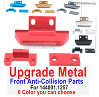 Wltoys 124016 Upgrade Parts Metal Front Anti-Collision Frame Parts. For Wltoys 124016.1257. 6 Color You can choose.