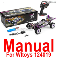 Wltoys 124017 Manual Instruction Parts. The words are in English.
