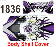 Wltoys 124019 Body Shell Cover Parts. Purple. 124019.1836.