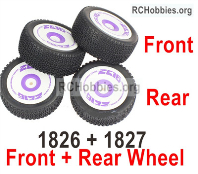 Wltoys 124019 Tires Wheel unit Parts.2 set Front + 2 Set Rear.
