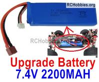 Wltoys 124018 Upgrade Battery Packs Parts. 7.4V 2200mah 25C Battery-1pcs-100X33X15mm-115.5g