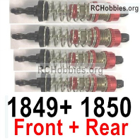 Wltoys 124018 Front and Rear Shock Absorber Parts,4pcs. 124018.1849+124018.1850.