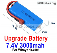 Wltoys 124019 Upgrade 3000mah Lipo Battery Packs Parts. Run More time and More Power.