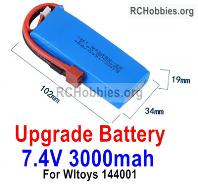 Wltoys 124018 Upgrade 3000mah Lipo Battery Packs Parts. Run More time and More Power.
