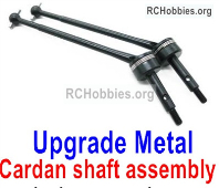 Wltoys 124019 Upgrade Metal Cardan shaft assembly Parts. 124019.1315. 2 Set Metal CVD Accessories
