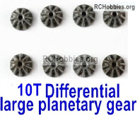Wltoys 124019 Metal 10T Differential large planetary gear Parts. 124019.1271. Total 8pcs. Hardware.