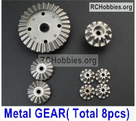 Wltoys 124019 Whole Metal Kit Parts. Metal gear, total 8pcs.