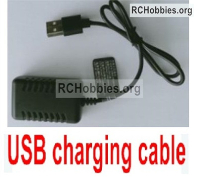 Wltoys 124019 USB Charger and Balance charger Parts. 7.4V 2000mA USB Charger. USB-1.1374.