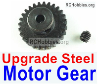 Wltoys 124019 Upgrade Parts-Upgrade Steel motor Gear(1pcs)-0.7 Modulus-Black-27 Teeth