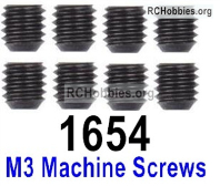 Wltoys 124019 M3 Machine screws Parts. 12428.0098. The size is M3X3.