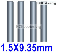 Wltoys 124019 Cardan Shaft Parts. 124019.1274.The size is 1.5x9.35mm. Total; 4pcs.