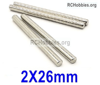 Wltoys 124019 C-seat optical axis Parts.124019.1277. The size is 2X26mm. Total 4pcs.