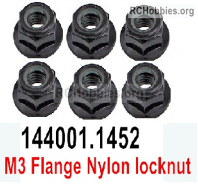 Wltoys 124019 Flange nut Parts. 124019.1452. Total 6pcs