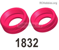 Wltoys 124019 Shock-absorbing sealing cap Parts. 124019.1832. The size is 11*4.5mm. Total 2pcs.