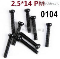 Wltoys 124019 Screws Parts 12428.0104 Screws. M2.5X14 PM.