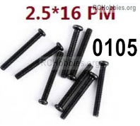 Wltoys 124019 Screws Parts 12428.0105 Screws. M2.5X16 PM.