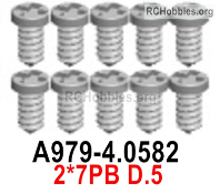Wltoys 124019 Screws Parts A979-4.0582 Screws. 2x7PB D.5.