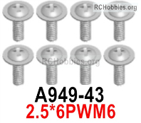 Wltoys 124019 Screws Parts A949-43 Screws. 2.5x6PWM6.