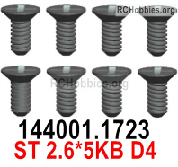 Wltoys 124019 Screws Parts 1323 Screws. ST2.6x5KB D4.