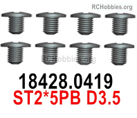 Wltoys 124019 Screws Parts 18428.0419 Screws. ST2.5PB D3.5.