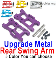 Wltoys 124019 Upgrade Rear Metal Swing Arm parts. 1250. 4 Colors you can choose.