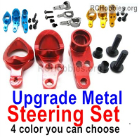 Wltoys 124019 Upgrade Metal Steering Set Parts. 4 Colors you can choose.