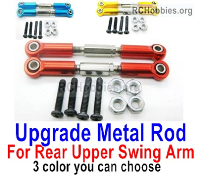 Wltoys 124019 Upgrade Metal Rod Parts for the Rear and Upper Swing Arm. Total 2pcs. 3 Colors you can choose.