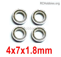 Wltoys 124019 Ball bearing Parts. 4X7X1.8mm. 124019.1296. Total 4pcs.