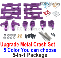 Wltoys 124019 Upgrade Metal kit cash set 2 Parts. All 5-In-1 Package. 5 Colors you can choose.