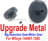 Wltoys 124018 Upgrade Metal Steel Motor Gear + Reduction gear. It is perfectly suitable for the 124018 RC Racing Car.