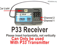 Wltoys 124018 Upgrade Parts P33 Receiver board. Can be used together with the P33 Transmitter or the Brushless system.