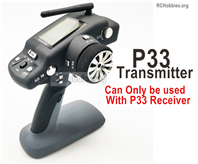 Wltoys 124018 Upgrade Parts P33 Transmitter. Can be used together with the P33 Receiver or the Brushless system.