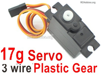 Wltoys 124019 Upgrade Servo Parts. The Torque is 17g with 3 Wire. The Gear is made of Plastic Material.