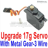 Wltoys 124018 Upgrade Parts Metal Servo. The Gear is made of Metal Material.,The Torque is 17g with 3 Wire.