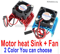 Wltoys 124018 Upgrade Parts Motor Heat Sink + Fan. Two colors you can choose.
